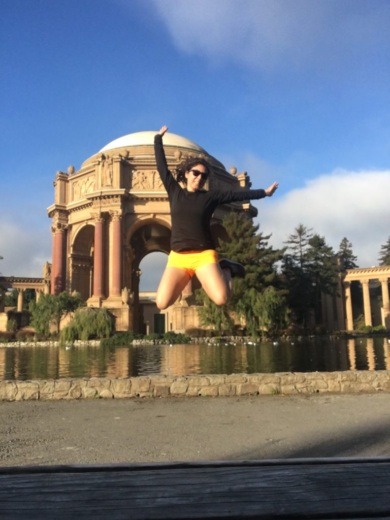Running in SF last week, I felt good enough to jump!
